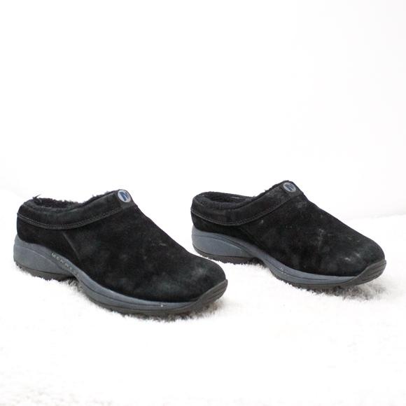 Primo Chill Slide Black Suede Clogs 75